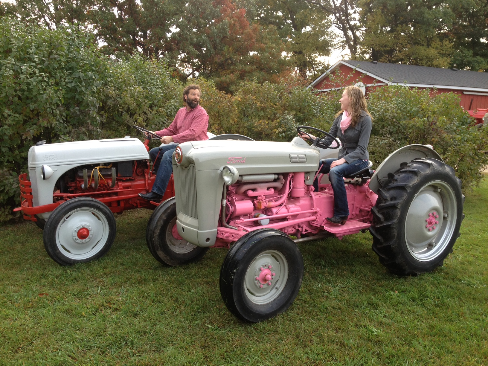 Old Ford Tractor Decals : Father daughter team customizes a pair of classic ford