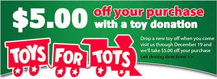 Toys for Tots In Store Special Going On Now