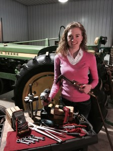 Rachel Gingell tractor repair tools farmall john deere ih