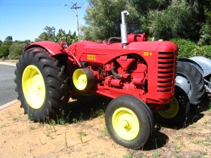 Massey Harris 55 owned by Willie Young of Australia