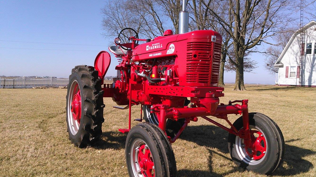 Restored Antique Tractors : Farmall super mvta restoration antique tractor