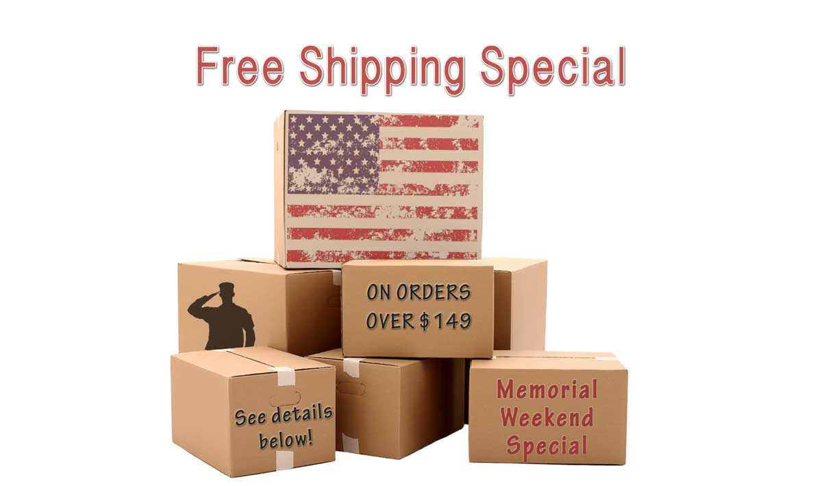 Memorial Day Shipping Special
