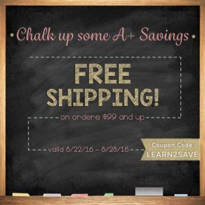 Chalk Up Some A+ Savings with Free Shipping