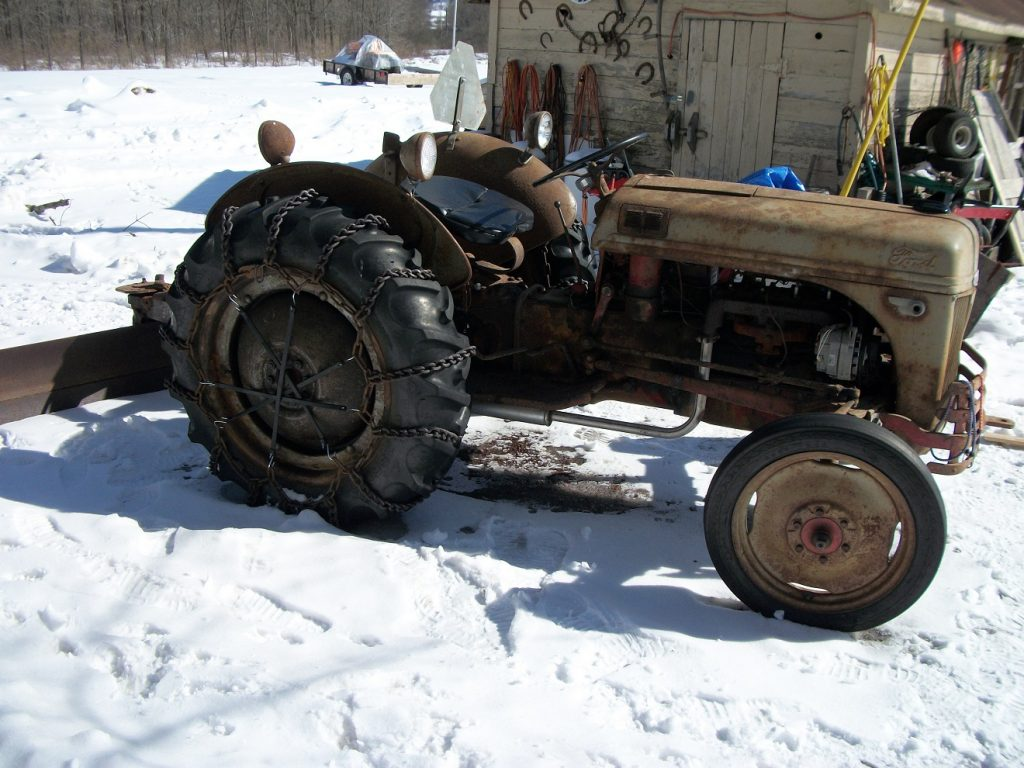 Ford Tractor Before and After