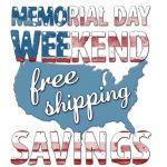 Free Shipping for Memorial Weekend