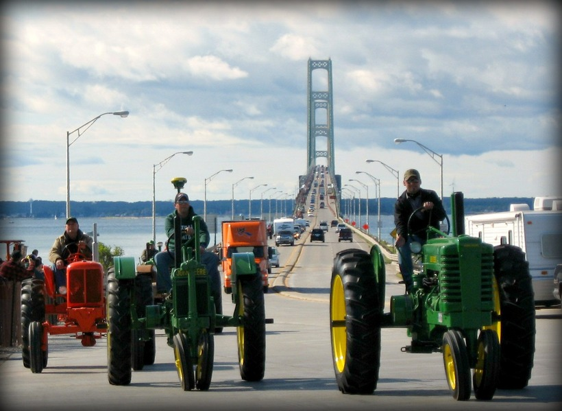 Tractors on the Big Mack