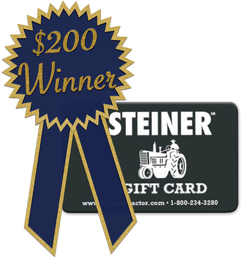 April Winner Of 200 Steiner Tractor Parts Gift Card