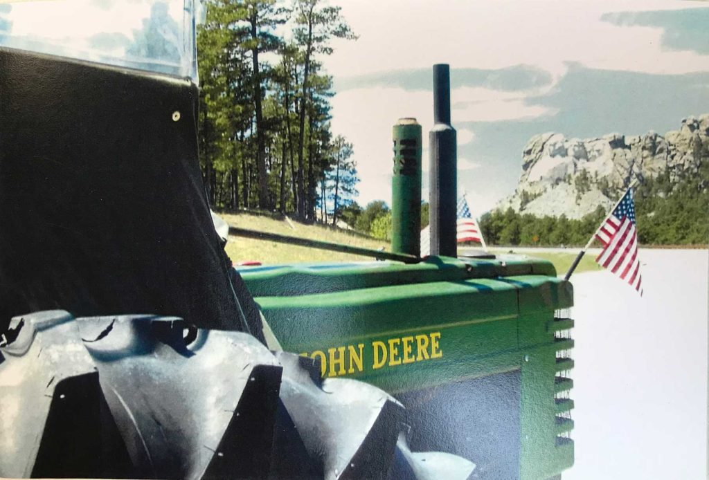 John Deere B and Mount Rushmore