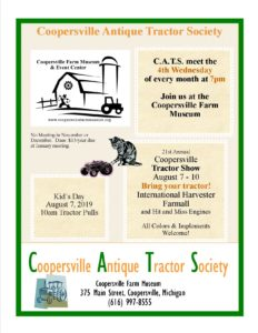 MI - Coopersville Tractor Show @ Coopersville Farm Museum and Event Center
