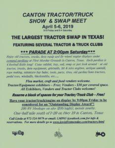 TX - Canton Tractor/Truck Show & Swap Meet @ TX- Canton Tractor/Truck Show & Swap Meet