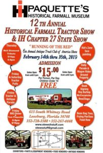 FL - Paquette's Farmall Museums Annual Tractor Show @ Paquette's Farmall Museum