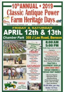 NC - Classic Antique Power Farm Heritage Days @ Benson Chamber Park