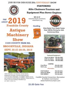 IN - Franklin County Antique Machinery Show @ Machinery Show, Tractor Pull, Steam Engines, Horse Pull