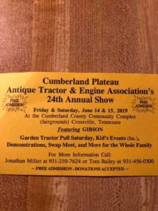 TN - Cumberland Plateau Antique Tractor & Engine Show @ Cumberland County Fairgrounds |  |  |