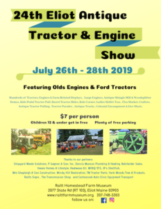 ME - 24th Eliot Antique Tractor & Engine Show @ Raitt Homestead Farm Museum