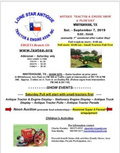 TX - Antique tractor and engine show & plow day @ Lone star antique tractor and engine club
