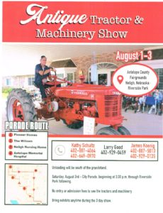 NE - Antelope County Fair Antique Tractor Show @ Antelope County Fairgrounds