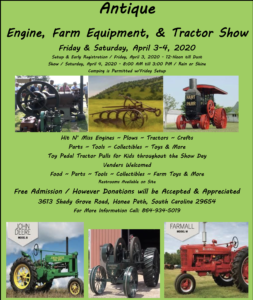 SC - Antique Engine, Farm Equipment and Tractor Show