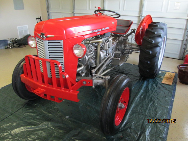 tractor story 1961 massey ferguson 35 antique tractor blog. Black Bedroom Furniture Sets. Home Design Ideas